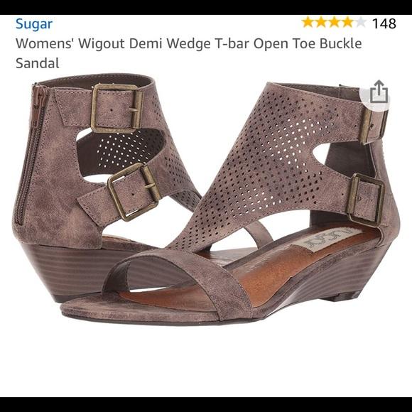 Womens Wigout Demi Wedge T Bar Open Toe